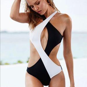 Victoria's Secret Surf Wrap One-Piece Swimsuit